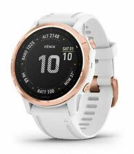 Garmin Fenix 6S Pro Reloj GPS 42mm Caja con Blanco Silicona Correa - Blanco con Rose Gold Acero inoxidable Bisel