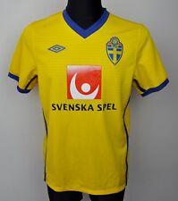 SWEDEN Home National Football Shirt 2010 Men's Medium Jersey Umbro M Trikot Top