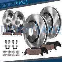 Front & Rear Brake Rotors + Ceramic Pads for Ford Flex Explorer Taurus MKS MKT
