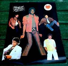 "1982 original MICHAEL JACKSON thriller POSTER old store stock 18"" x 24"" Nice MJ"