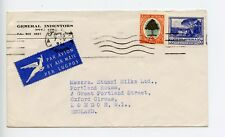 South Africa 1951 commercial cover General Indentors Cape Town to GB (L386)