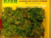 Cespugli scenic material verdi con fiori gialli per plastico gr. 45 - Krea 208