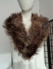 "MINT RACCOON RACOON FUR COLLAR WRAP SCAF WOMEN WOMAN SIZE 3"" X 41"" NEW LINING!"