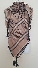 Pinkish gray Black Unisex Shemagh Head Scarf Neck Wrap Cottton Pink White Cover