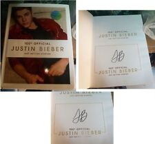 JUSTIN BIEBER SIGNED JUST GETTING STARTED H/B BOOK MUSIC POP MUSIC 100% OFFICIAL