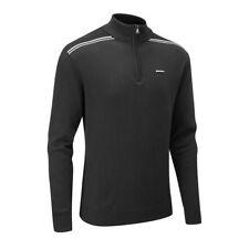 Stuburt Mens 2018 Hydro-sport Half Zip Soft Lightweight Thermal Sweater L Black