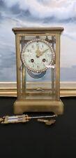 Antique Brass  Crystal Regulator Clock .Japy Freres,with Swarovsky dial. France.