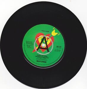 "Matumbi -Point Of View (Squeeze A Little Lovin) 7"" 45 REGGAE PROMO RIC 101 1979"