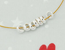 925 Sterling Silver 15 Plain Ring Spacer Beads 5x2 mm.