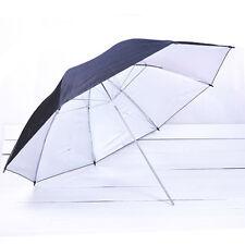 "43""/110cm Photo Studio Black Silver Reflective Umbrella For Video Lighting Kit"