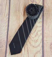 Brown & Gold Striped - Oscar de la Renta Tie Necktie
