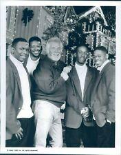 1992 Photo Kenny Rogers Boyz II Men Musician Country Keep Christmas with 7x9