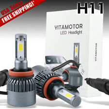 YITAMOTOR 2X H11 COB 200W 20000LM High Power White LED Headlight CONVERSION KIT