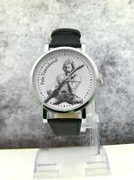Pete Townshend design wristwatch. Made to order. Black strap