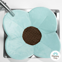 Blooming Bath Poppy Baby Bath, Package Free, Bathing Mat, Flower Bath, Seafoam