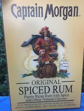 Vintage CAPTAIN MORGAN SPICED RUM Nautical Pirate Ship Ocean Sea Wall Decor Art