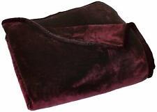 4kg Heavyweight Thick Korean Style Faux Mink Blanket Oversized King, Burgundy
