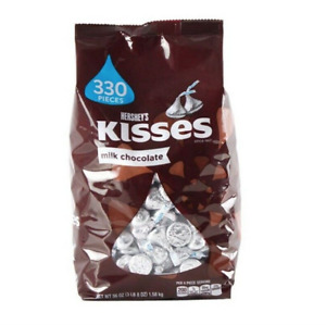 Hershey's Kisses Milk Chocolate 1.58kg 56oz Made in USA 330 pieces 2021 Stock