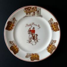 Theodore Haviland Limoges Plate Horse and Carriage Soldier Equestrian Vtg France