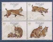 Portugal 1988 - Monde Fonds pour la Nature Wwf Lynx Pardina Bloc de 4 - Sc 1719a