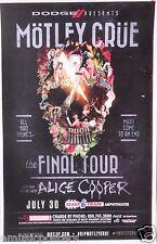 "MOTLEY CRUE / ALICE COOPER ""THE FINAL TOUR"" 2014 SAN DIEGO CONCERT POSTER"