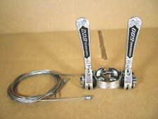 New-Old-Stock Shimano 600 EX Shifter Set w/ Arabesque Pattern...Down Tube Clamp