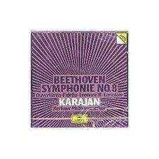 Beethoven: Symphonie (Sinfonia) No 8, Overture Fidelio, Coriolano / Karajan - CD