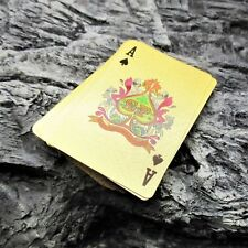 GOLD FOIL PLAYING CARD DECK camping hiking survival kit poker game morale