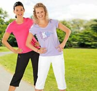 Kappa Puma Damen 3/4 Hose Sporthose Shorts Fitness Freizeit Caprihose