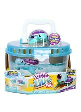 Little Live Pets S3 Lil' Turtle Tank Tank carrying case and Pet Toy Purple Teal