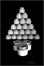 Set 24 Magnetic White Steel 2.5oz Kitchen Spice Home Organization Bottle Jars