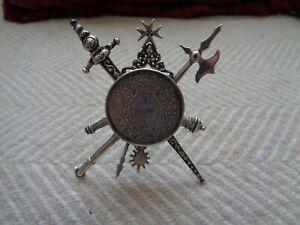 1796  RARE  MALTESE  SILVER SCUDO (12 TARI ) COIN...  EMMANUEL DE ROHAN.in mount