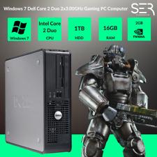 Windows 7, DELL, Core 2 Duo 2x3.00 Ghz Gaming PC Computer - 16GB DDR3 - 1 TB-HDMI