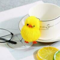 Real Mink Fur Ball Chick Duck Charm Phone Purse Pendant Chain V9T9 Key 5cm B0B7