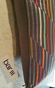"Bar III 23"" X 10"" Tracks Decorative Pillow, Brown/ Multi"