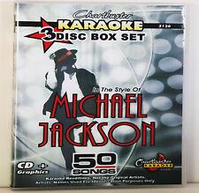 Karaoke Chartbuster CD+G Lot 5130 Michael Jackson 3 Disc Box Includes Song List