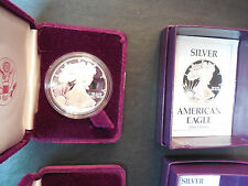 1986 + 1988 Proof silver eagles with boxes and COAs (pse)