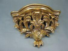Goldene  Wandkonsole 30 cm Regal Konsole Venezianische Konsole Barockstil floral