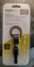 Powerxcel micro keychain charge & sync cable for ANDROID PHONES AND TABLETS