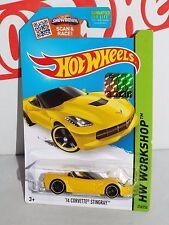 Hot Wheels 2015 Factory Set HW Garage #216 '14 Corvette Stingray Yellow