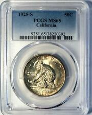 1925-S California Commemorative Silver Half Dollar - PCGS MS 65 - Mint State 65