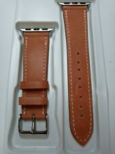Genuine Brown Leather Band For Apple Watch 38mm 40mm
