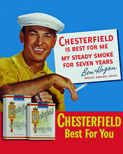 Ben Hogan - Chesterfield Cigarette Poster,  8x10 Color Photo