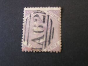 JAMAICA, SCOTT # 5, 6p. VALUE LILAC QV.1860-63 WMK PINEAPPLE ISSUE USED