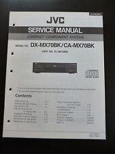 ORIGINALI service manual JVC COMPACT COMPONENT SYSTEM dx-mx70bk ca-mx70bk
