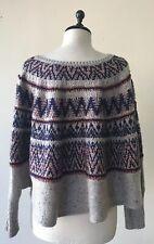 ANTHROPOLOGIE Midland Fairisle Sweater by Sleeping on Snow xs