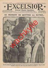 Excelsior n°1758 du 08/09/1915 mutilés Lyon reine Elisabeth Belgique Bagatelle