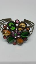 Bracelet - flower shaped with colored stones