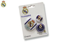 Real Madrid 3xAnstecknadel Ansteck Button Fanshop Champions League,Spanien,new