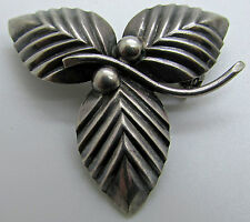 N.E FROM Sterling Silver Flower Brooch Modernist Pin Scandinavian Denmark MCM